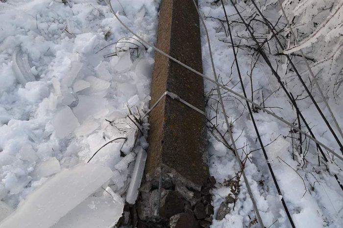 В Молдове 64 населенных пункта в центральных и южных районах страны остались без электричества.